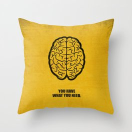 Lab No.4 -You Have What You Need Corporate Start-up Quotes poster Throw Pillow