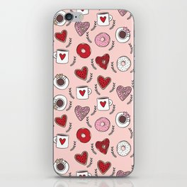 Valentines donuts and coffee cute gifts for love valentine andrea lauren iPhone Skin