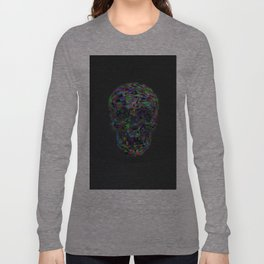 Skull Low-Poly Color Long Sleeve T-shirt