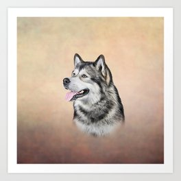 Dog Alaskan Malamute Art Print