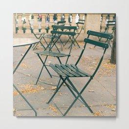 Bryant Park Terrace Sitting Metal Print