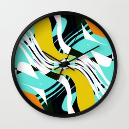Make Some Noise Multicolored Abstract Wall Clock