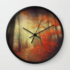 fire walk Wall Clock