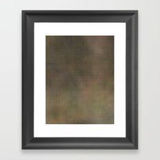Pixels Green Framed Art Print