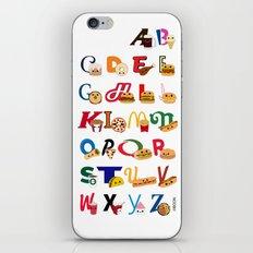 Fast Food Alphabet iPhone & iPod Skin