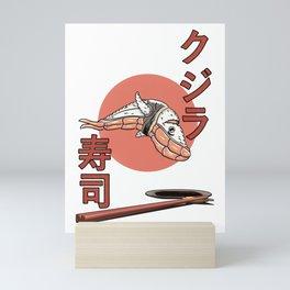 Whale sushi - Kujira! Mini Art Print