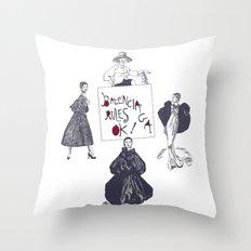 Balenciaga Rules OK! Throw Pillow