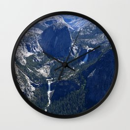 Vernal Falls And Nevada Falls Wall Clock