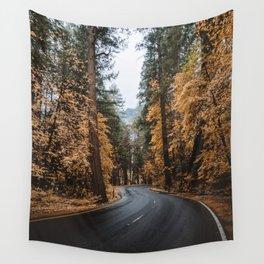 Fall Foliage in Yosemite Wall Tapestry