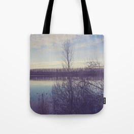 A perspective on the lake Tote Bag