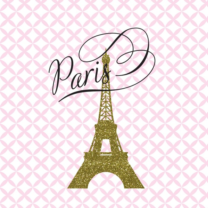 Pink Eiffel Tower , Paris, France , gift for her Comforters