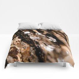 Tree Bark Macro Comforters