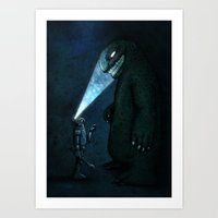 monster Art Prints featuring Monster by MaComiX