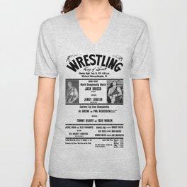 #1 Memphis Wrestling Window Card Unisex V-Neck