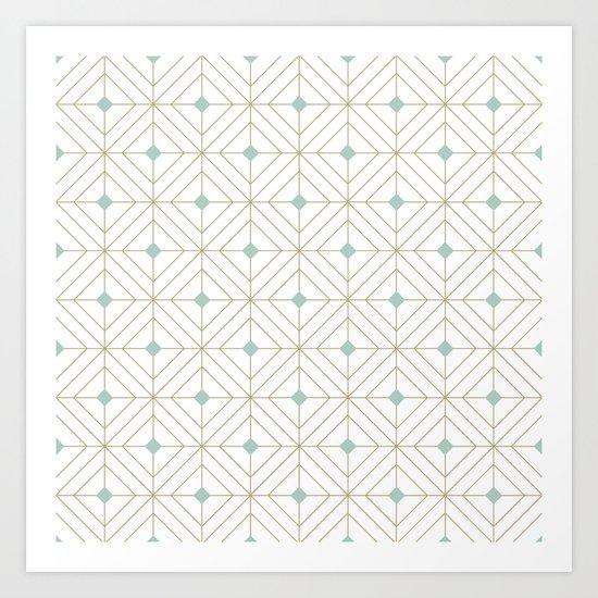 Mint Diamonds Art Print