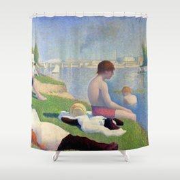"""Georges Seurat """"Bathers at Asnières"""" Shower Curtain"""