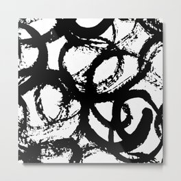 Dance Black and White Metal Print