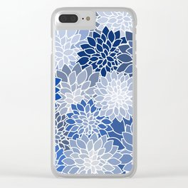 Succulents Shades of Blue Clear iPhone Case