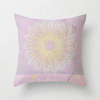 morocco Throw Pillows featuring Morocco Pink by ZenaZero