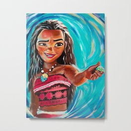 Moana Fine Art Painting Metal Print