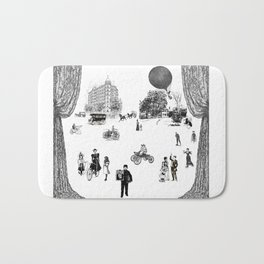 city view from window in 1898 vintage Victorian Bath Mat