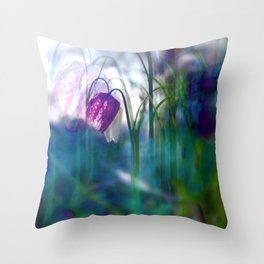 Chequered lily with its magical spirit Throw Pillow