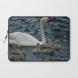 Mute Swan & Cygnets Laptop Sleeve