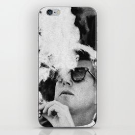 JFK Cigar and Sunglasses Cool President Photo Photo paper poster iPhone Skin