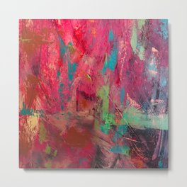 Survival// Trigger Warning/ abstract/pink Metal Print