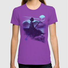 dream job Womens Fitted Tee Ultraviolet LARGE