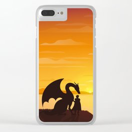 Dragon King Bakugo Landscape Clear iPhone Case