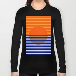 Orange Split Sun Long Sleeve T-shirt