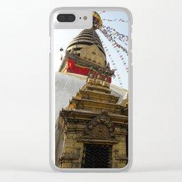 The Monkey Temple - Kathmandu, Nepal Clear iPhone Case