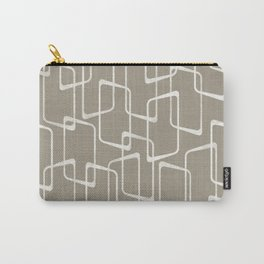 Retro Rounded Rectangles in Medium Warm Gray Carry-All Pouch