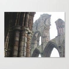 Whitby Abbey in Fog Canvas Print