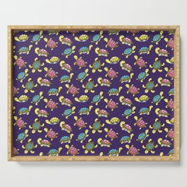 Turtles on purple Serving Tray
