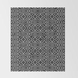 Black and White Tribal Print Throw Blanket