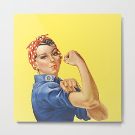 We Can Do It - Rosie the Riveter Poster Metal Print
