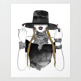 Creole Queen Bey Art Print