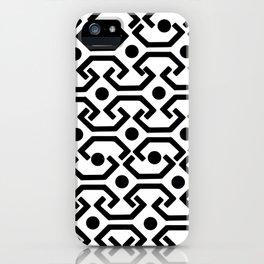 Ethnic Pattern (White) iPhone Case