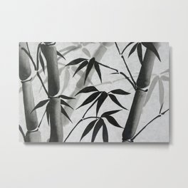 Bamboo Sumi-e Metal Print