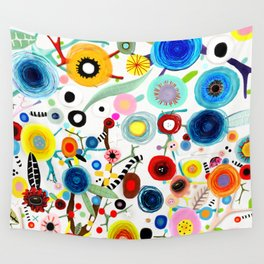 Rupydetequila whimsical floral art 2018 Wall Tapestry