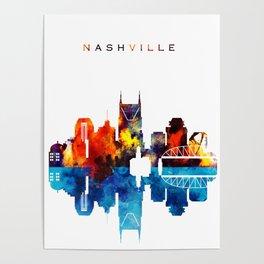 Nashville City Skyline Poster