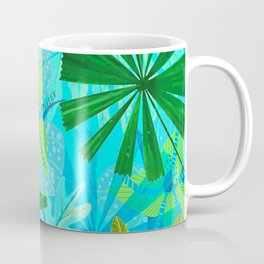 My blue abstract Aloha Tropical Jungle Garden Coffee Mug