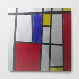 Child Art Paper Paint Window Abstract Metal Print