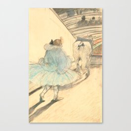 """Henri de Toulouse-Lautrec """"At the Circus: The Entry into the Ring"""" Canvas Print"""