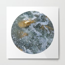 Planetary Bodies - Splash Metal Print