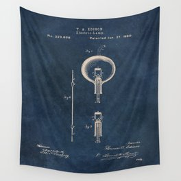 Electric lamp Edison patent art Wall Tapestry