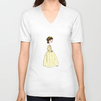 cinderella V-neck T-shirts featuring Cinderella by Little Moon Dance