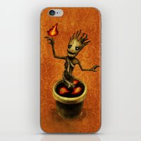 groot iPhone & iPod Skins featuring Groot by Anna Shell